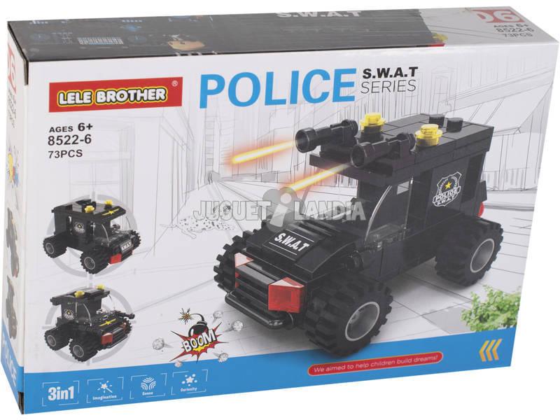 Coche de Policía S.W.A.T Bloques de Construcción 73 Piezas