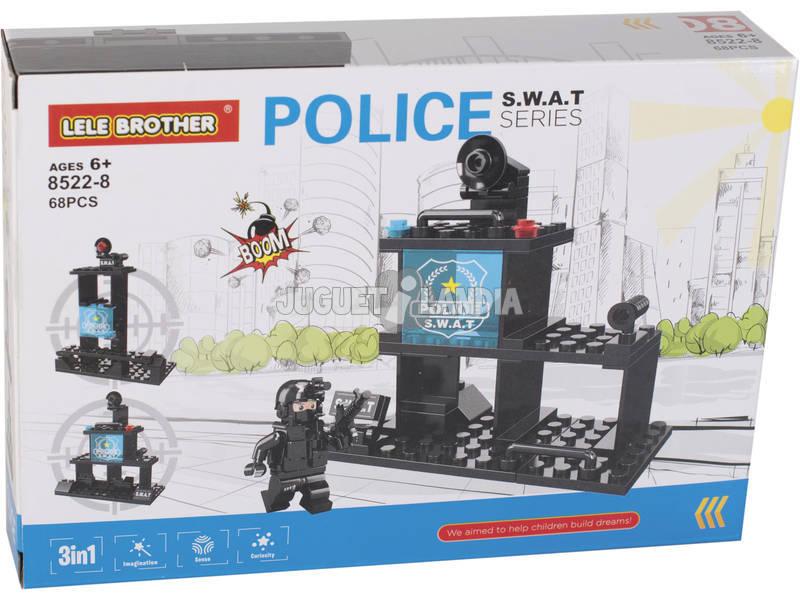 Comisaría de Policía S.W.A.T Bloques de Construcción 68 Piezas
