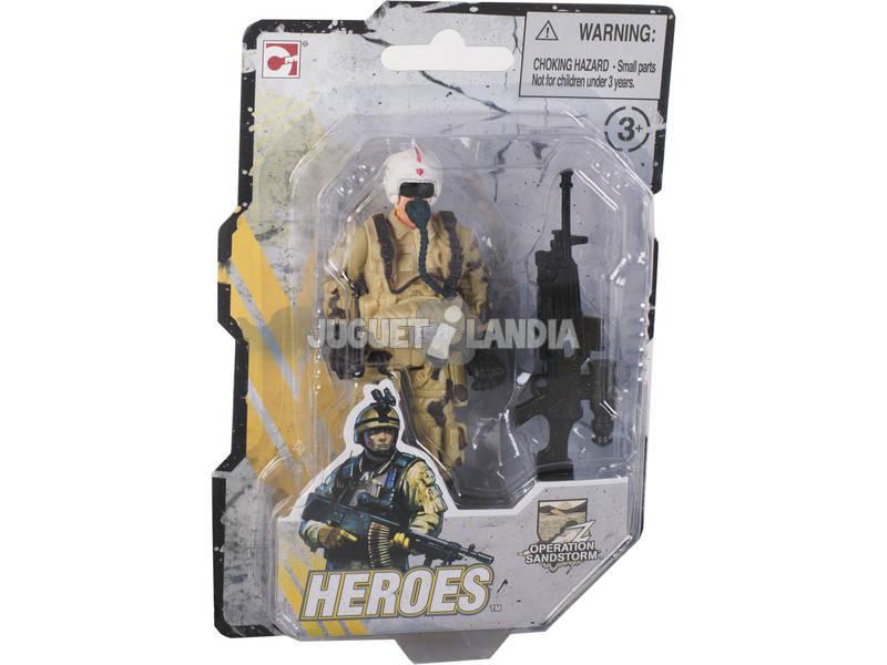 Muñecos Heroes Operation Sandstorm 9 cm.