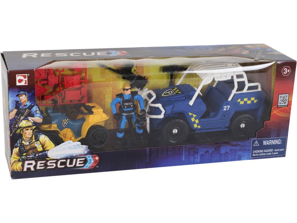 Pack Veicolo Soccorso Squad con Figura e Accessori