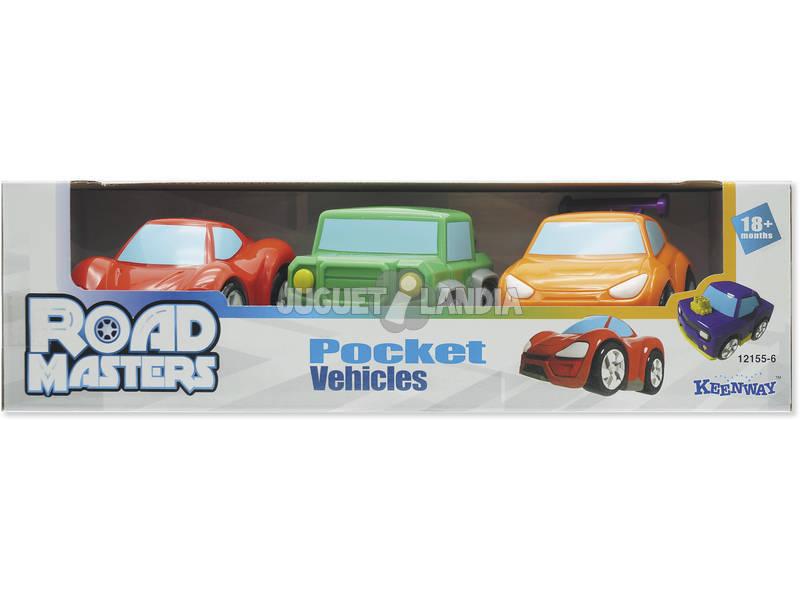 Set 3 Minivehículos Road Masters Speed
