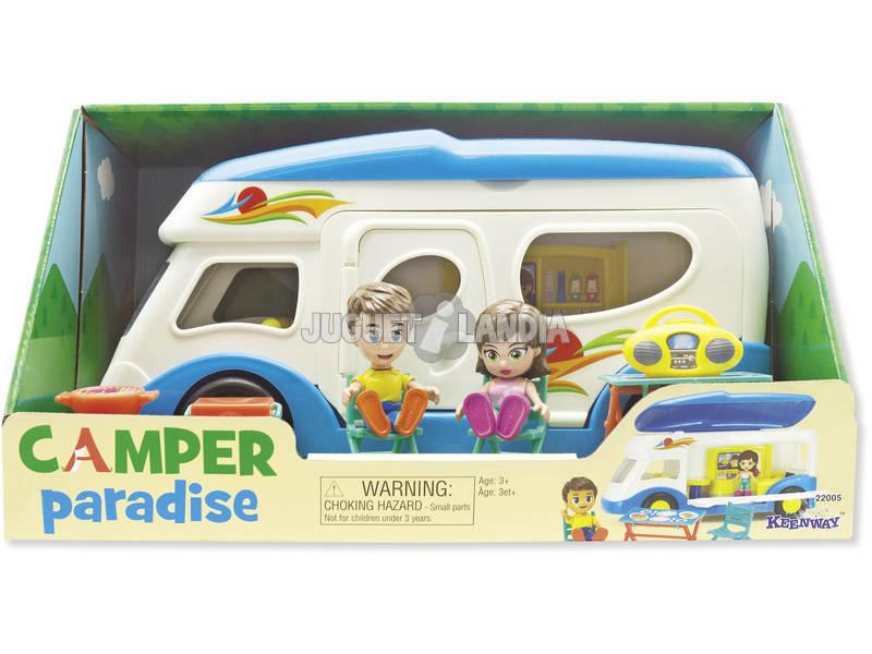 Autocaravana Camper Paradise con Figuras y Accesorios