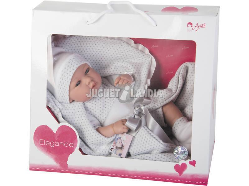 Bambola Elegance 42 cm. Real Baby Gris Arias 65138