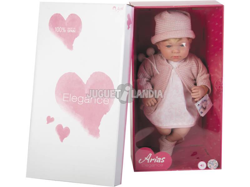 Muñeca Elegance 45 cm. Lois Rosa Con Mecanismo Arias 65178