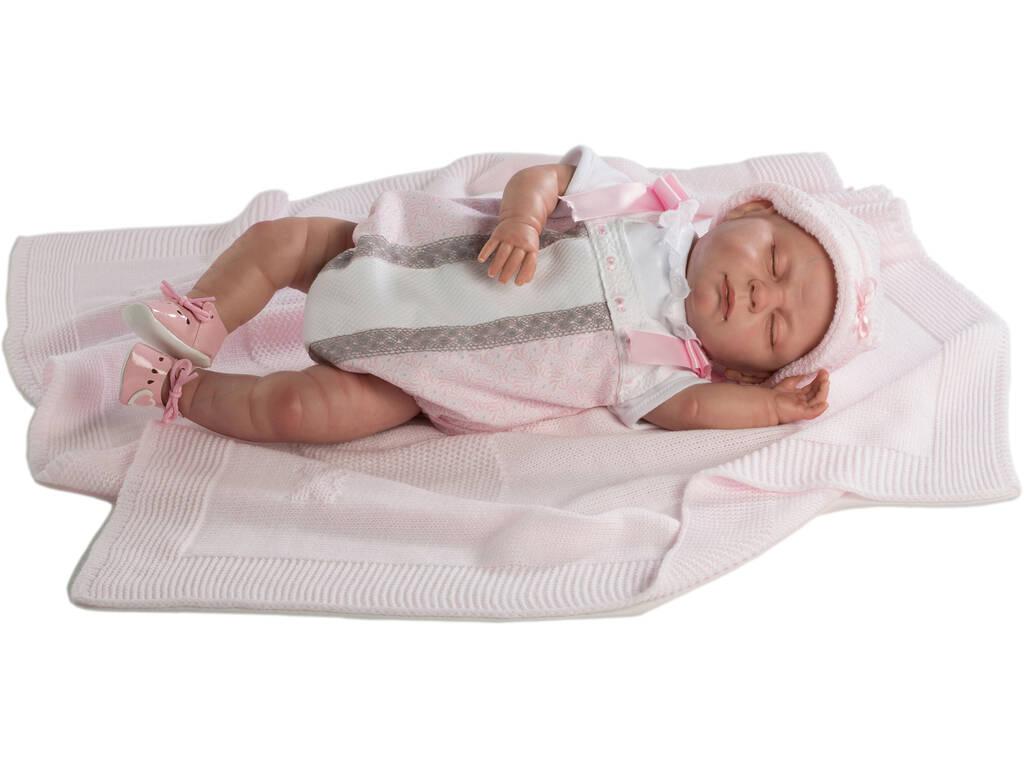 Boneca Reborn Baby 52 cm Fantoche Olhos Fechados Berbesa 5303