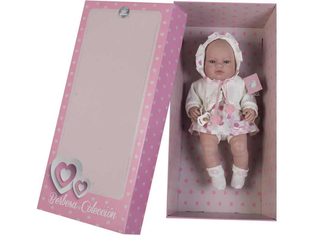 Boneca Recém Nascida 42 cm. Casaco Creme Berbesa 5112