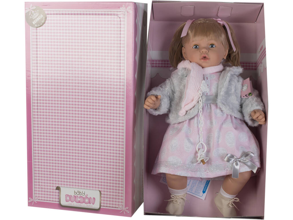 Boneca Baby Doce 62 cm. ChoronaColete Cinza Berbesa 8043