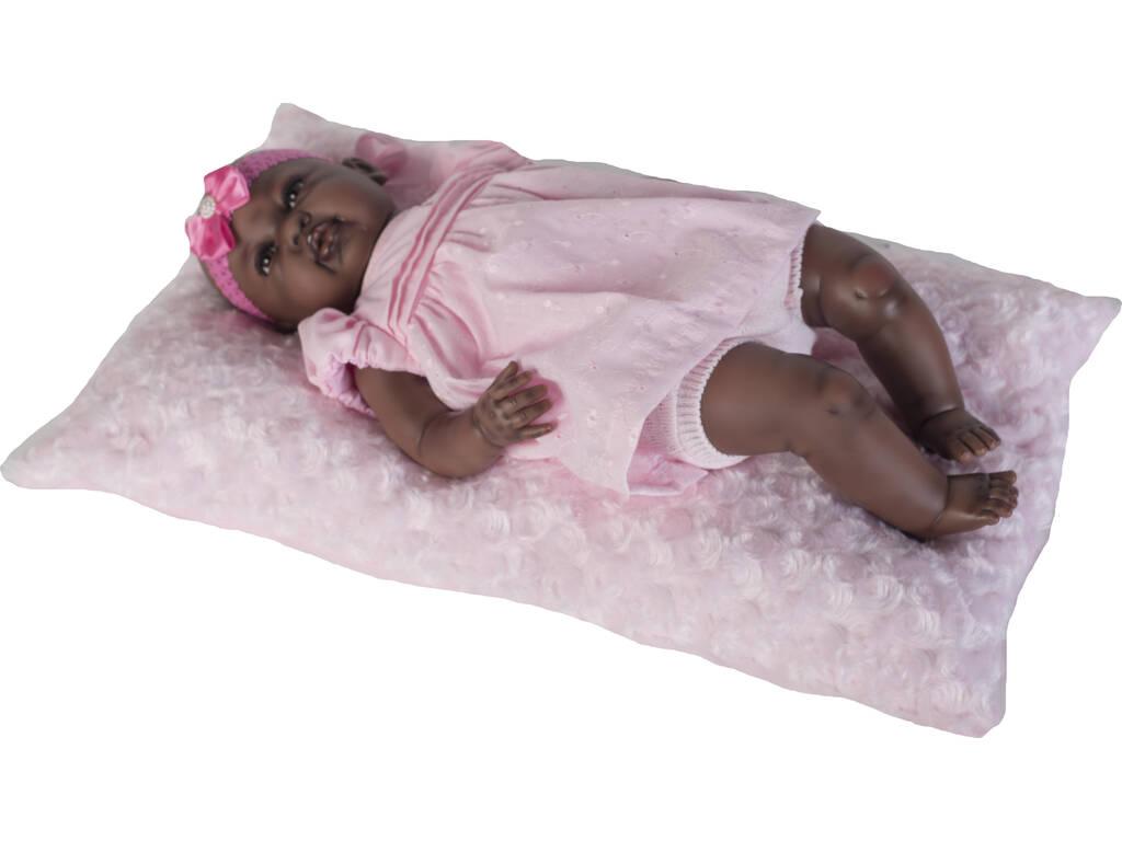 Boneca Reborn Baby 52 cm. Vestido Rosa Negrita Berbesa 53001