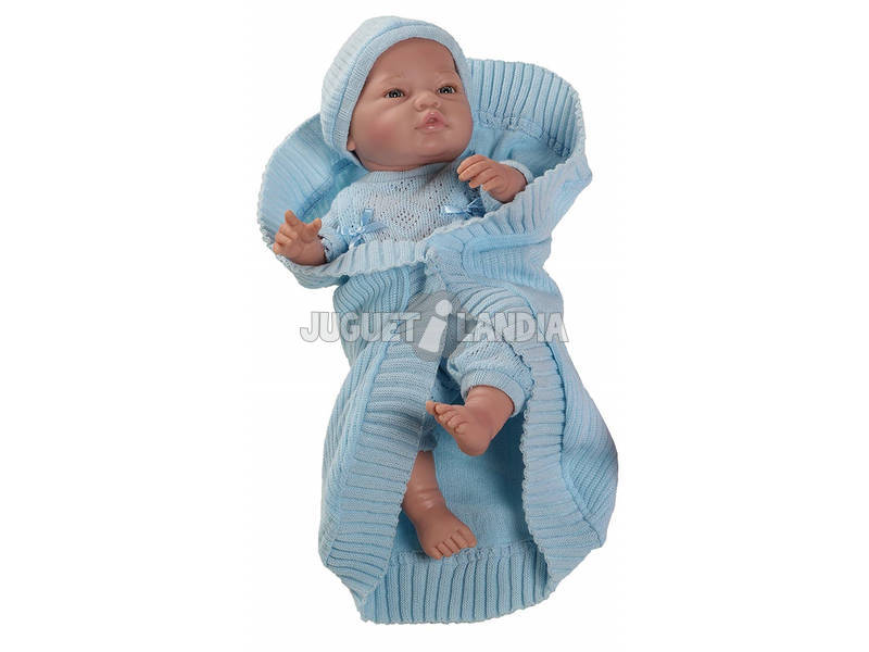 Boneco Bebito Europeu Azul 45 cm. Paola Reina 5172