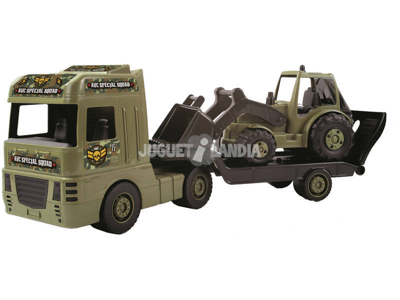 Maxi Trailer Camión Remolque Militar AVC 5501