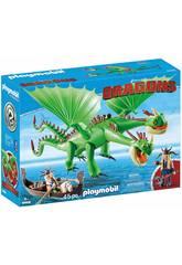 Playmobil Comme dresser A votre Dragon Kognedur, Kranedur, Dragon deux têtes 9458