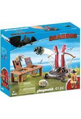 Playmobil Drachenzähmen Leicht Gemacht Grobian mit Schafschleuder 9461