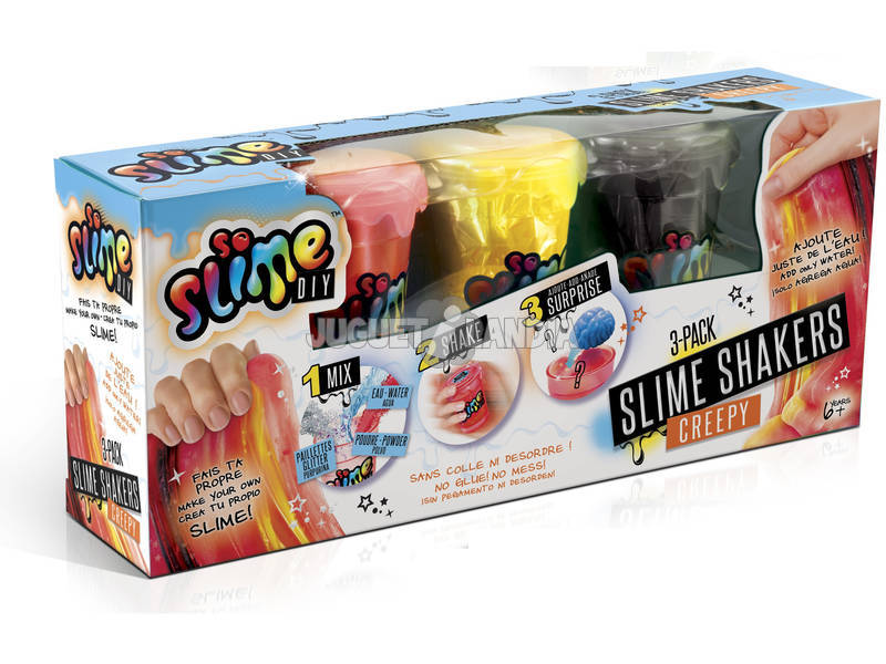 Slime Shaker 3 Botes con Sorpresa Canal Toys SSC010