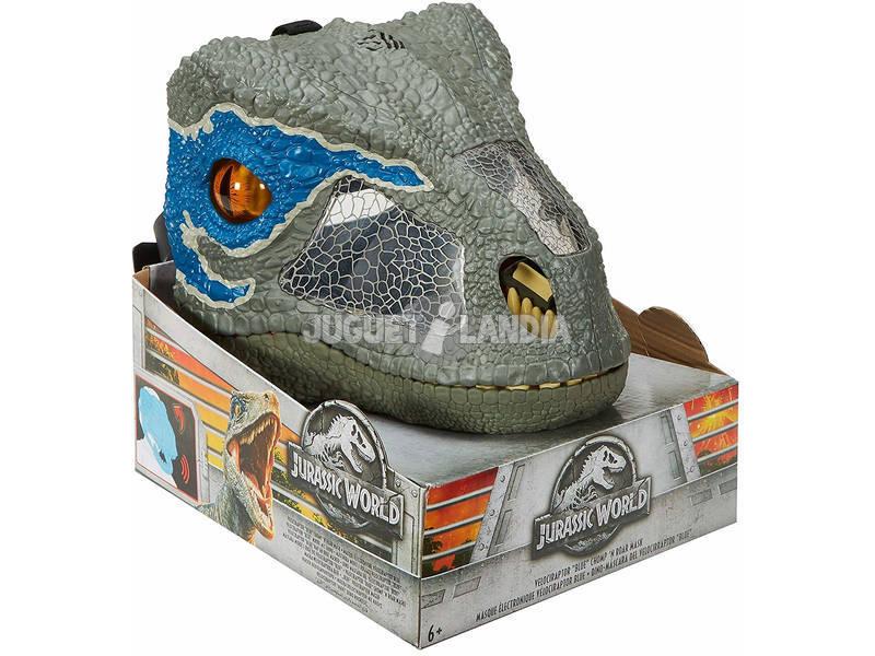 Jurassic World Dino Máscara de Velociraptor Blue Mattel FMB74
