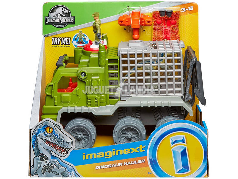 Mundo Jurássico Imaginext Camião Pega Dinossauros Mattel FMX87
