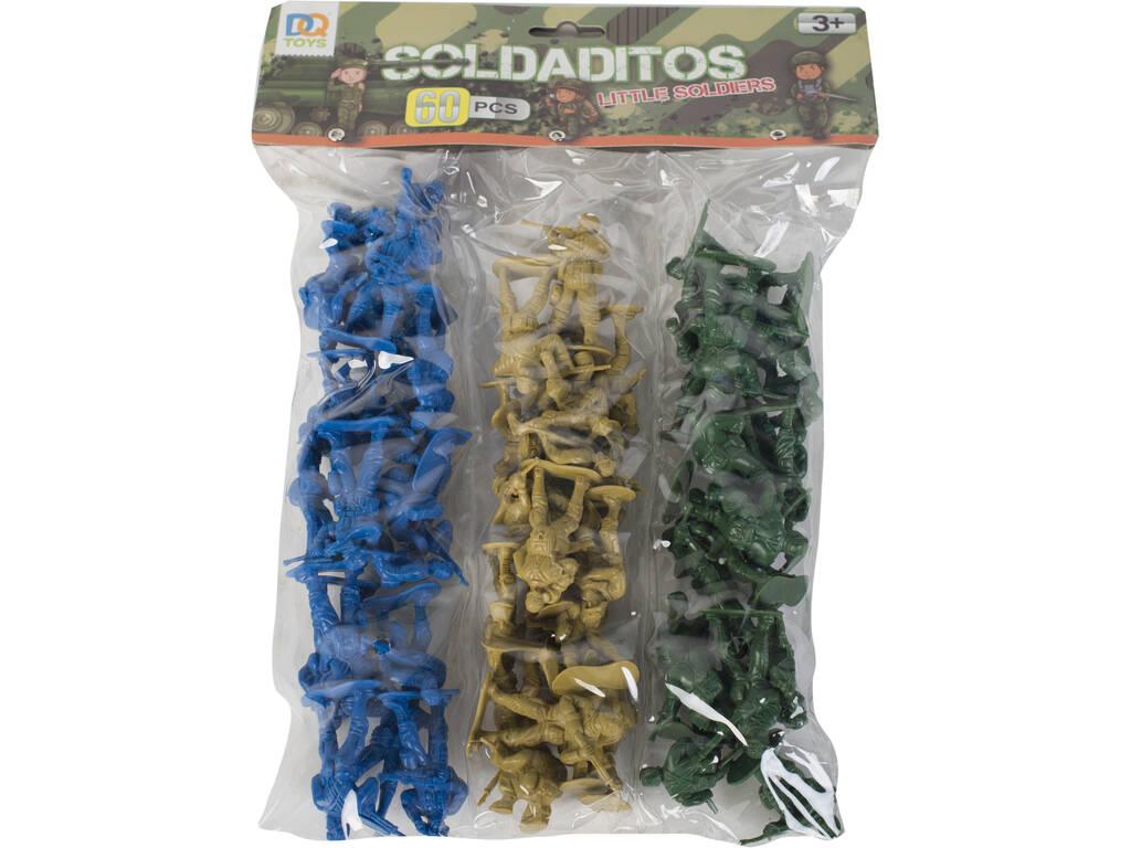 Figuras de Soldados Set 60 peças