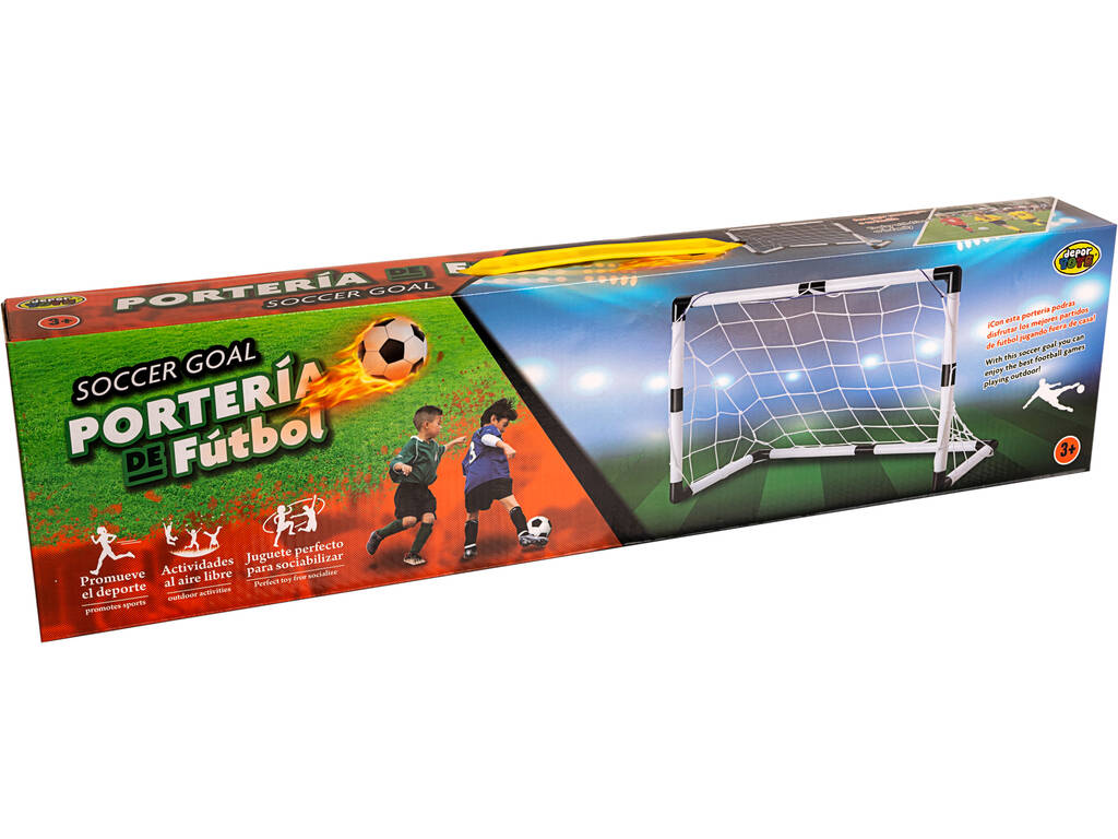 Playset Football Porta di Calcio 90x65x40.5 cm. e palla