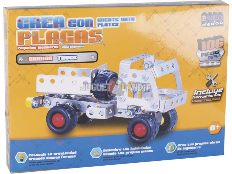 Vehiculos Construccion Metal 106 piezas