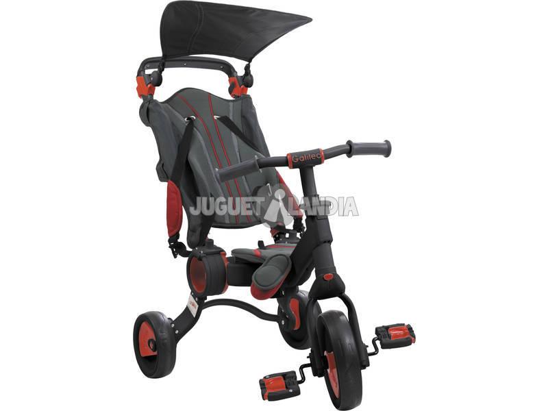 Triciclo Galileo Nero e rosso Toimsa 50516