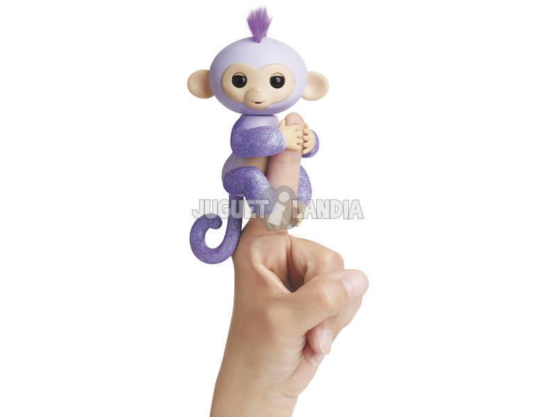 Fingerlings Bebé Mono Glitter Púrpura WowWee 3762
