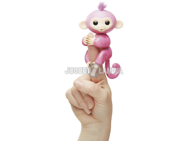 Fingerlings Bebé Mono Glitter Rosa WowWee 3764