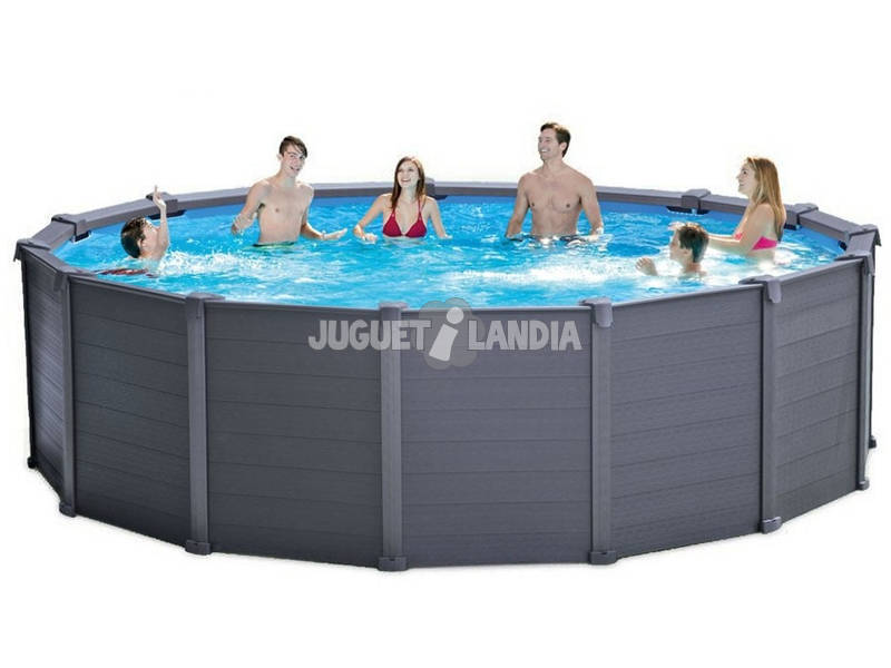Piscina Desmontable Grafito de 478x124 cm. Intex 26382