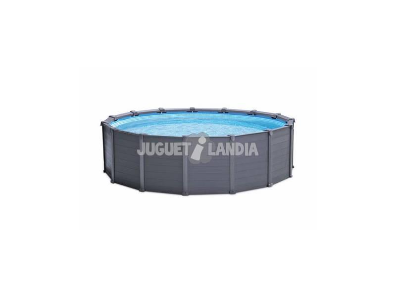 acheter piscine hors sol graphite de 478x124 cm intex 26382 juguetilandia. Black Bedroom Furniture Sets. Home Design Ideas