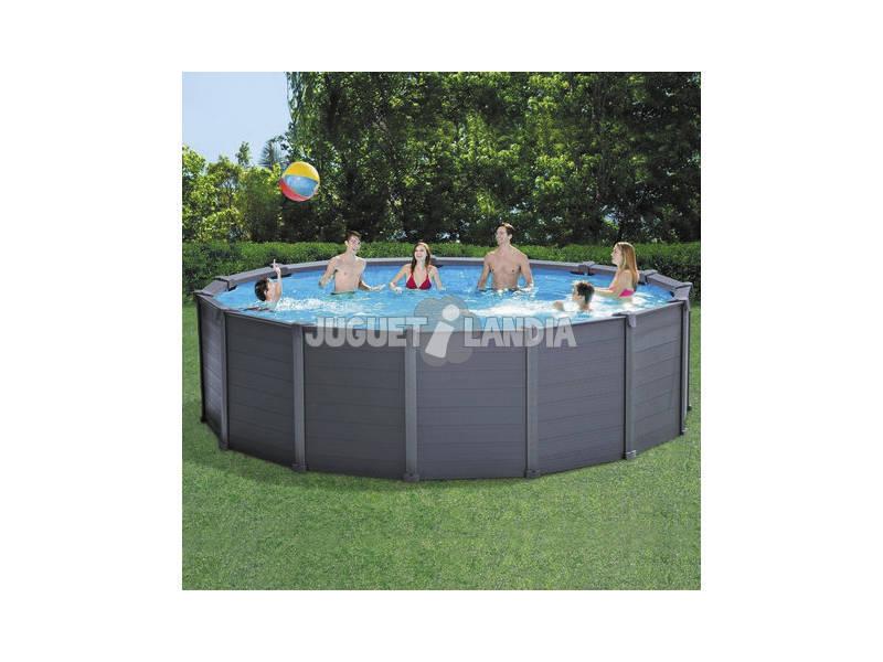 Piscina fuori terra grafito da 478x124 cm intex 26382 for Comprare piscina fuori terra
