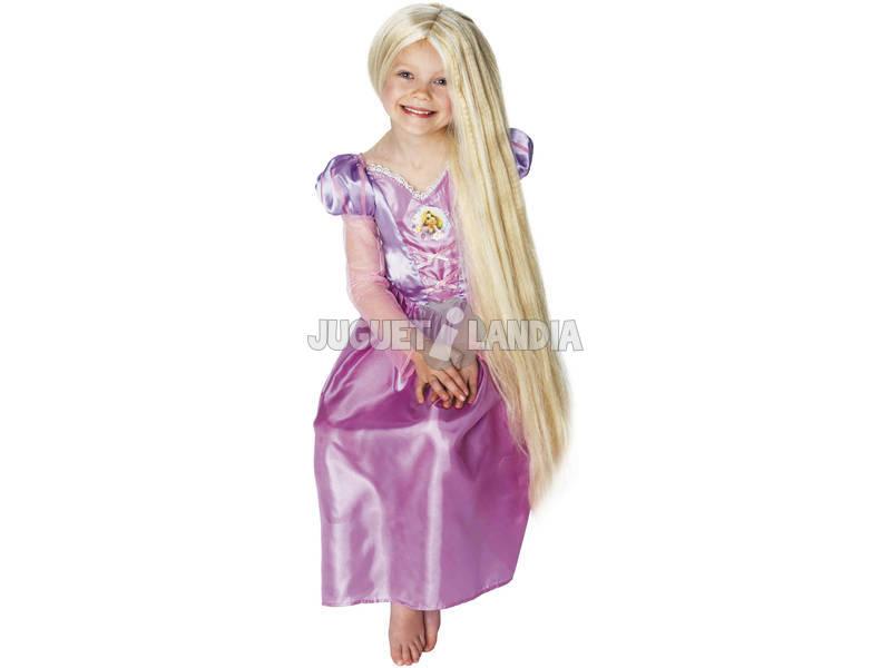 A peruca das crianças de Rapunzel brilha no escuro Rubies 36269