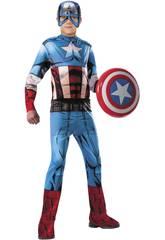 Déguisement Enfant Capitaine Amerique Classic Taille M Rubies 620019-M