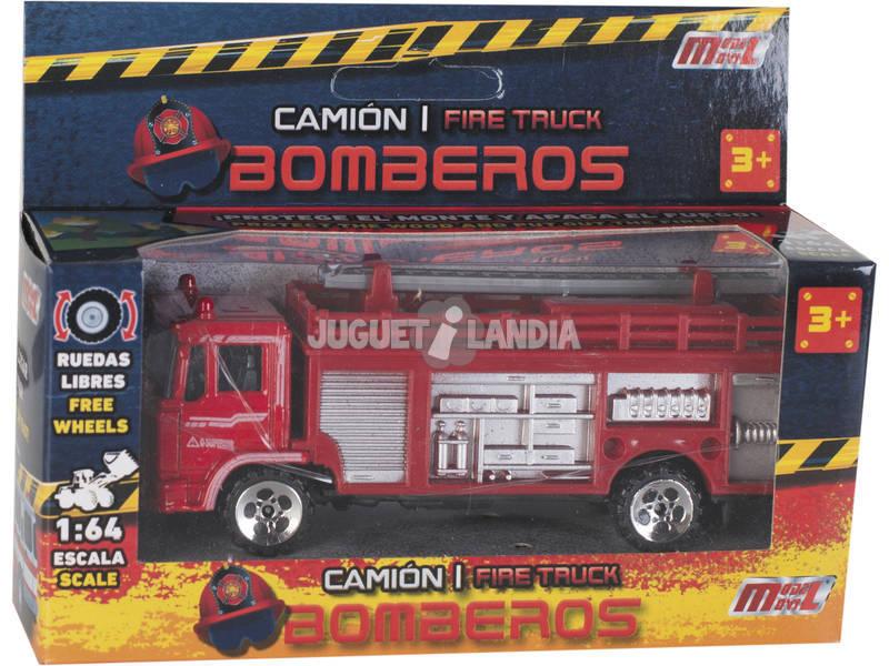 Camion di Pompieri in Metallo di 12 cm.