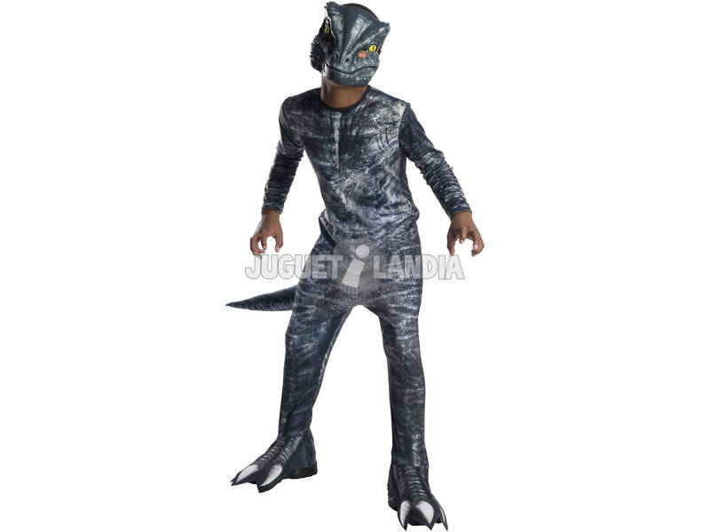 Disfarce de Menino Velociraptor Blue Classic Tamanho S Rubies 641180-S