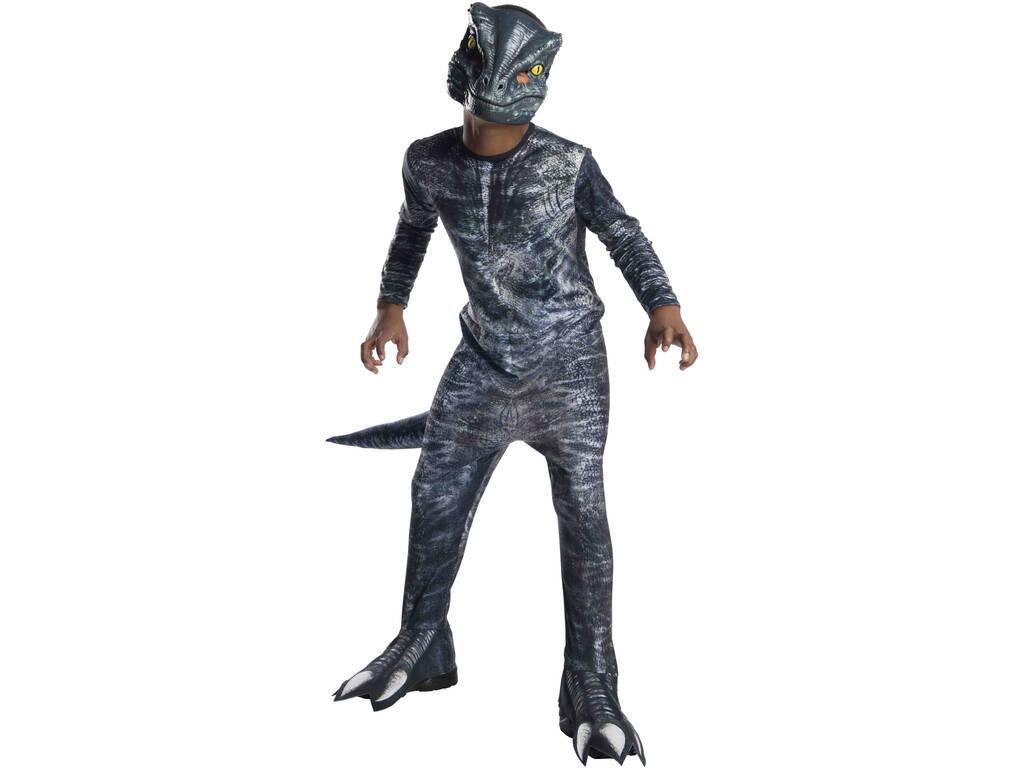 Disfarce de Menino Velociraptor Blue Classic Tamanho L Rubies 641180-L