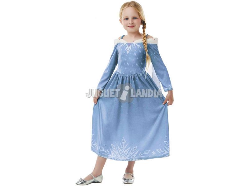 Disfarce de Menina Elsa Classic Tamanho M Rubies 64076-M