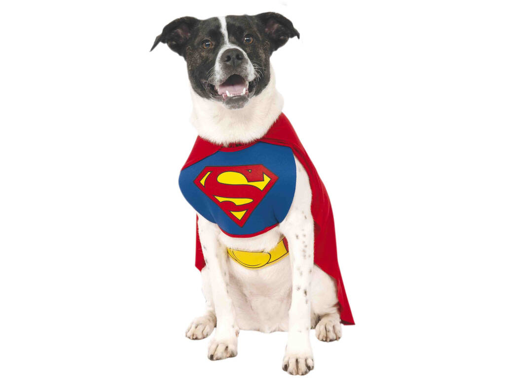 Costume per Animali Superman L Rubies 887892-L