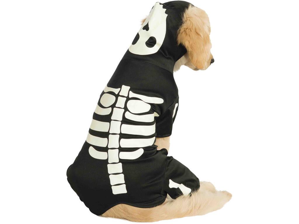 Costume per Animali Scheletro Brilla nell'Oscurità L Rubies 887825-L