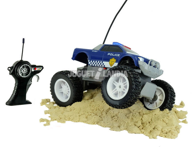 Radio Control Tech Coche Monster Police Maisto 87162