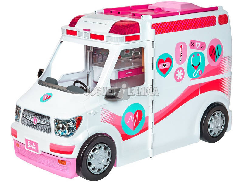 barbie ambulancia hospital 2 en 1 mattel frm19