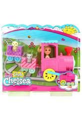 Barbie Chelsea y Su Tren De Mascotas Mattel FRL86