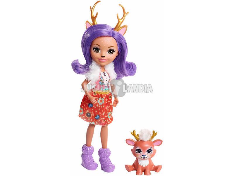 Enchantimals Muñeca y Mascota Ciervo Mattel FNH23