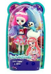 Enchantimals Bambola Saffi e il Cigno Mattel FRH38