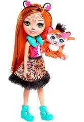 imagen Enchantimals Muñeca Tanzie y Mascota Tigre Mattel FRH39