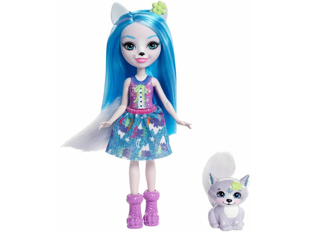 Enchantimals Boneca Wisley e Animal de Estimação Loba Mattel FRH40