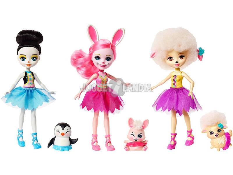 Enchantimals Tripack Bonecas Ballet Mattel FRH55