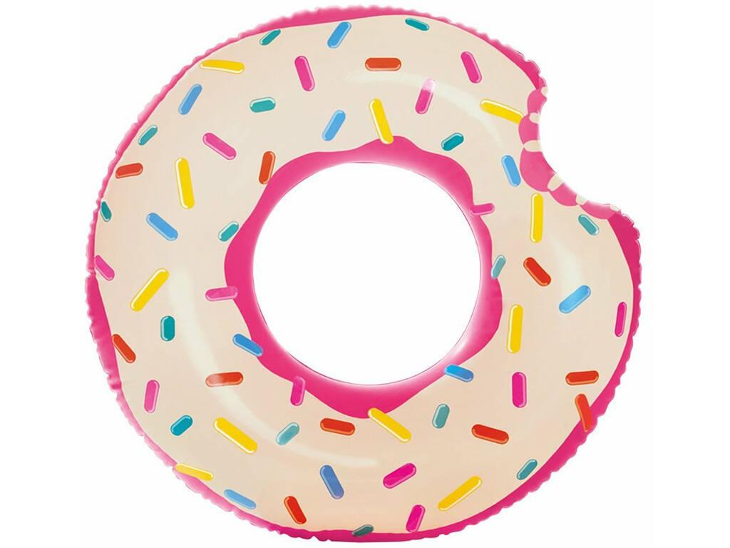 Colchoneta Hinchable Donut de Fresa de 107 cm. Intex 56265