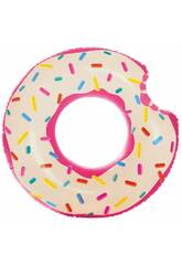 imagen Colchoneta Hinchable Donut de Fresa de 107 cm. Intex 56265