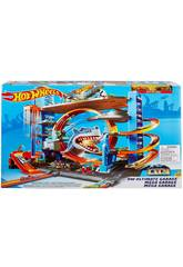 Hot Wheels Garage delle Acrobazie Playset Mattel FTB69