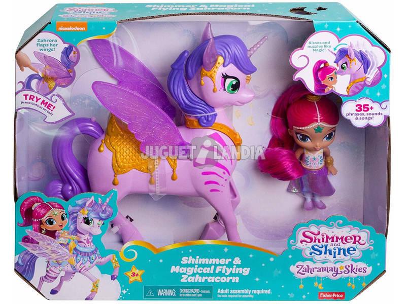 Shimmer and Shine Genie Regenbogen und Zahracorn Mattel GCM03