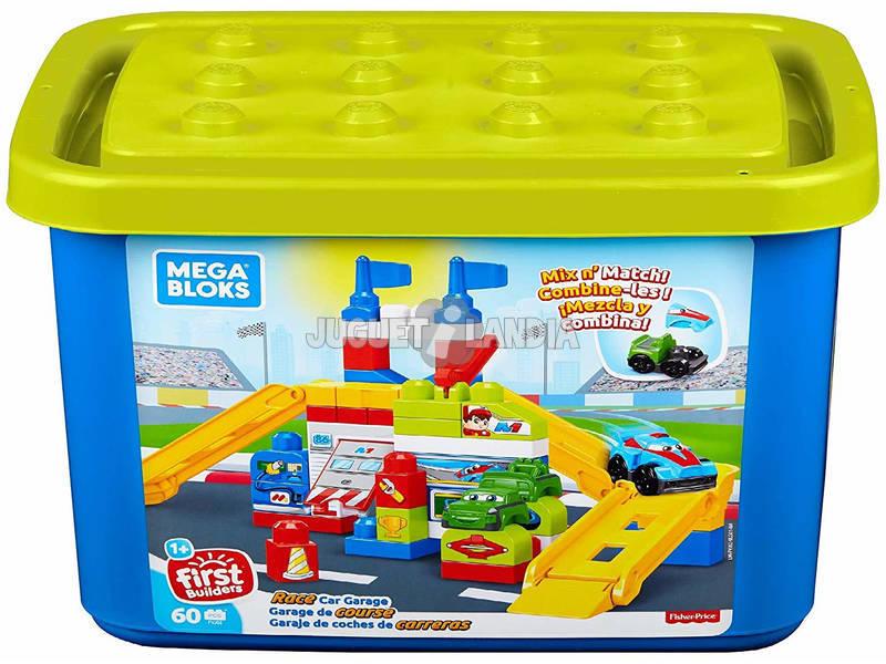 Garagem Mega Bloks Carros de Corrida Mattel FVJ02