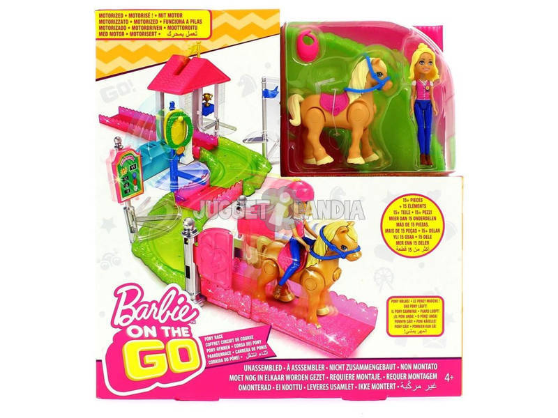Barbie On The Go Carrera De Ponis Mattel FHV66
